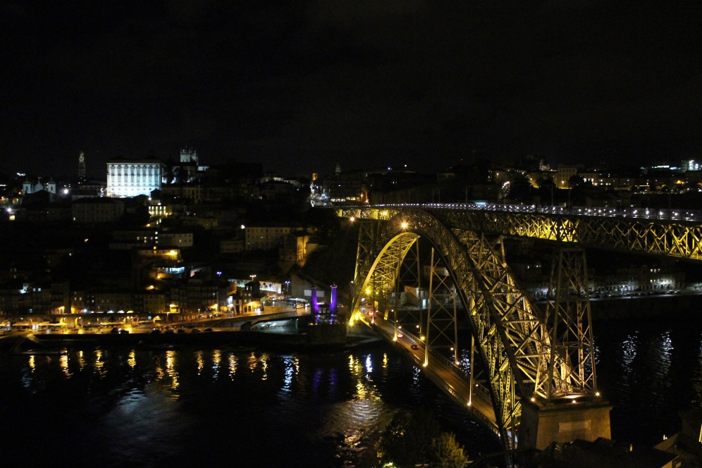 Porto by night is breathtaking