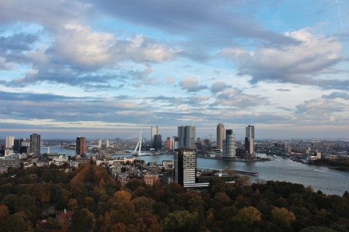The best view in town from the Euromast Tower.