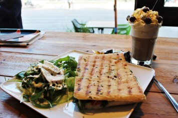 Every morning will be a good one when it starts with a panini an one of the many coffee specialties at Caffè Rosario