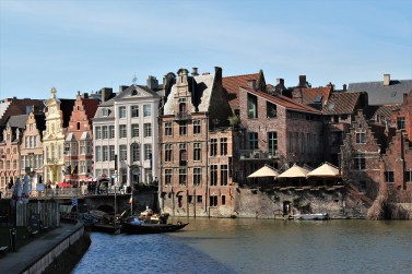You asked for canals there you have them, typical Belgian houses lining the waterfront.