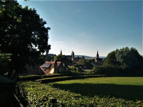 View on to the old town of Bamberg form the Spezi-Keller.