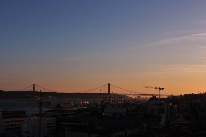 Sunset view from Miradouro de Santa Catarina