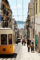 Rua Bica with the classical Tram