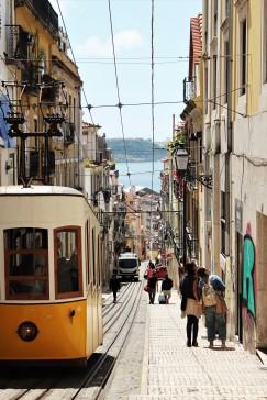 Rua Bica with the classical Tram