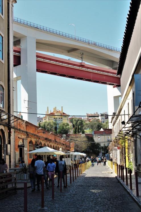LxFactory with the Ponte 25 de Abril